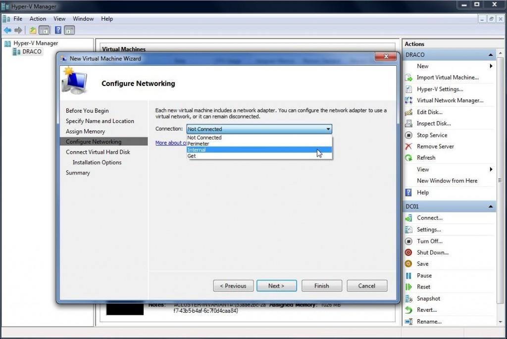 Opprettelse av ny virtuell maskin i Hyper-V Manager steg 5