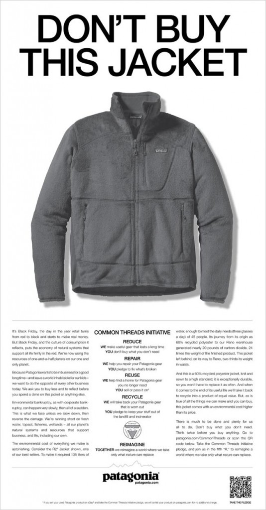 Patagonia - Don't buy this jacket