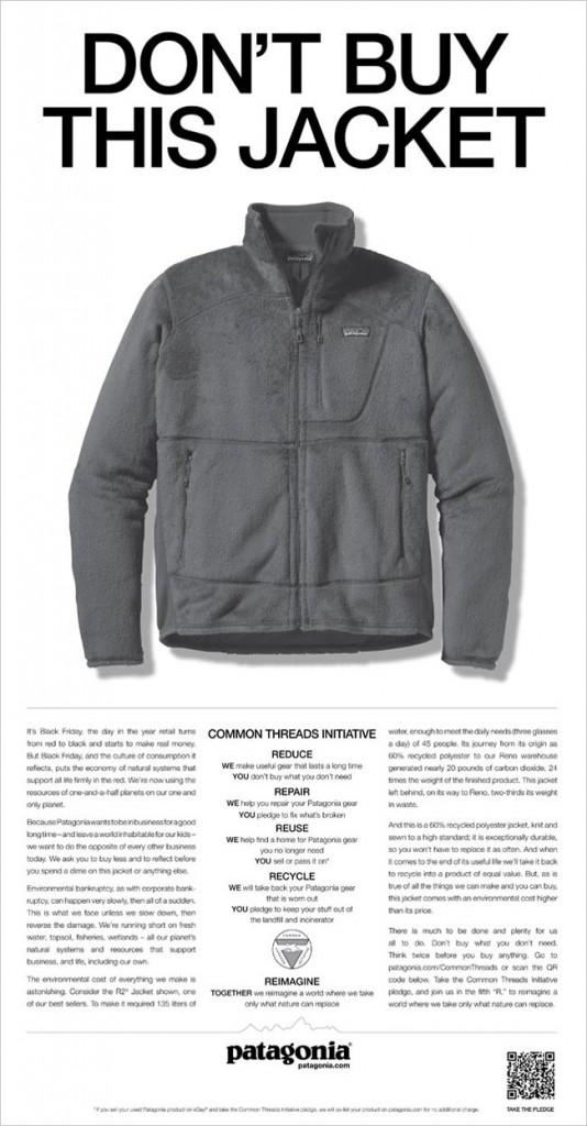 Patagonia - Don't buy this jacket